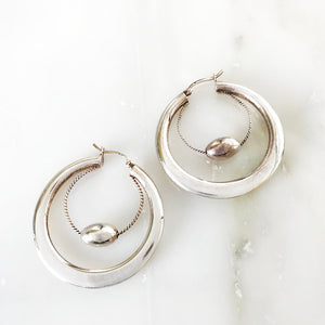 Alice Vintage Double Hoop Earrings