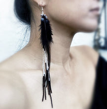 Lost Night Feather Earrings