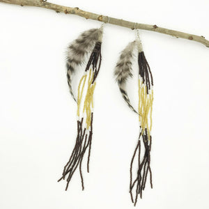 Frida Feather Drop Earrings