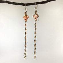 Ethiopian Copper Snowflake Pendant Drop Earrings
