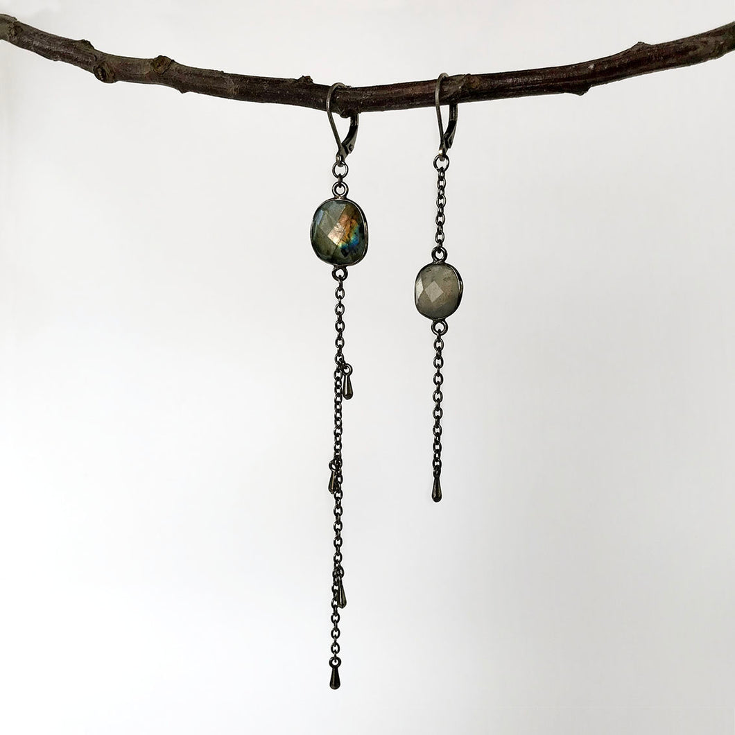 Moon Shadow Drop Earrings