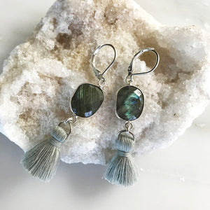 Evergreen Tassel Drop Earrings