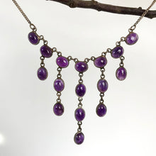 Vintage Amethyst Fringe Necklace