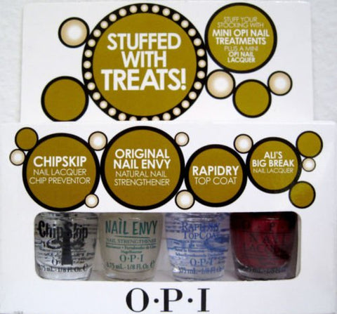 OPI STUFFED WITH TREATS Mini Nail Polish Set ~ Chip Skip Nail Envy Rapidry Ali's
