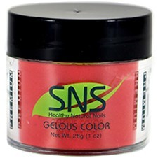 SNS Nail color dipping powder  CORVETTE RED  097  1 OZ