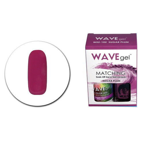 Wave Gel Matching Soak Off Gel Polish SUGAR PLUM W52102 (W102)