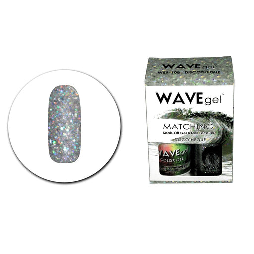 Wave Gel Matching Soak Off Gel Polish DISCOTHEQUE W59108 (W108)