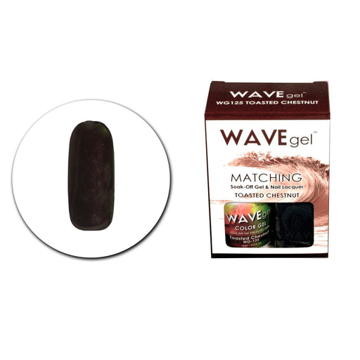 Wave Gel Matching Soak Off Gel Polish TOASTED CHESTNUT WG125 (W125)