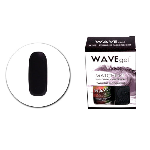 Wave Gel Matching Soak Off Gel Polish TWILIGHT MOONLIGHT W145 (W145)