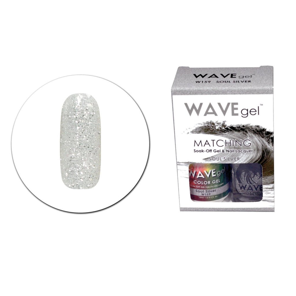 Wave Gel Matching Soak Off Gel Polish SOUL SILVER (W159) W159