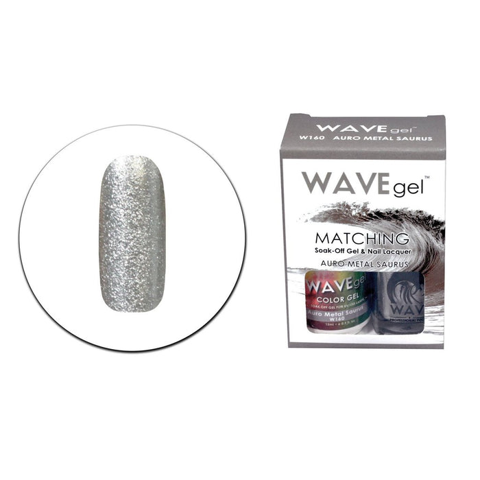 Wave Gel Matching Soak Off Gel Polish AURO METAL SAURUS (W160) W160