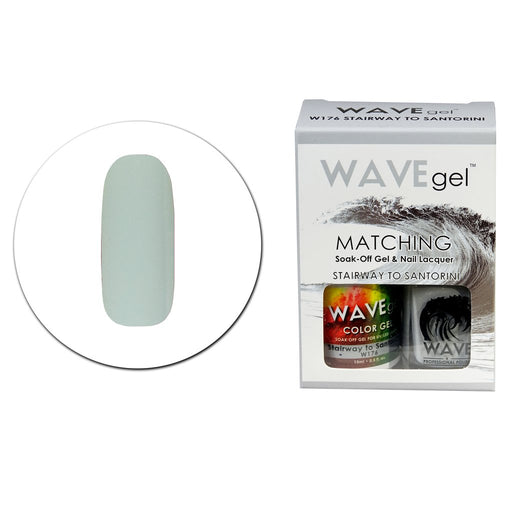 Wave Gel Matching Soak Off Gel Polish STAIRWAY TO SANTORINI W176 (W176)