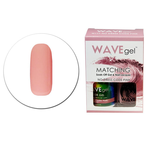 Wave Gel Matching Soak Off Gel Polish NO DRESS CODE PINK W177 (W177)