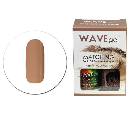 Wave Gel Matching Soak Off Gel Polish PRETTY POLYNESIAN W178 (W178)