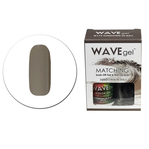 Wave Gel Matching Soak Off Gel Polish SUNDOWN IN BALI W179 (W179)