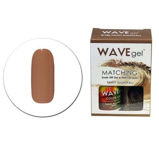 Wave Gel Matching Soak Off Gel Polish TAHITI NIGHTFALL W180 (W180)