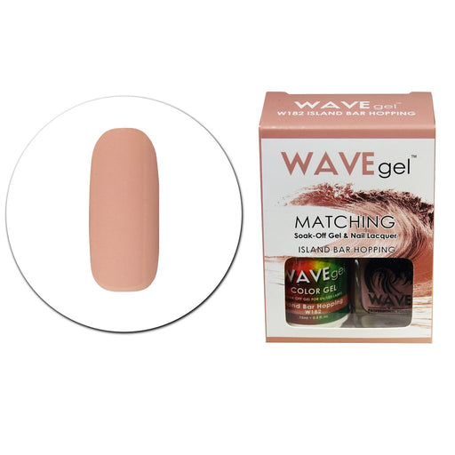 Wave Gel Matching Soak Off Gel Polish ISLAND BAR HOPPING W182 (W182)