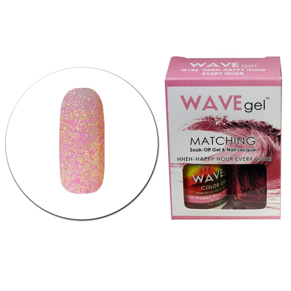 Wave Gel Matching Soak Off Gel Polish HHEH-HAPPY HOUR EVERY HOUR W186 (W186)