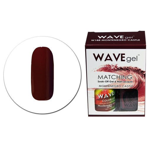 Wave Gel Matching Soak Off Gel Polish  MONTENEGRO CASTLE W188 (W188)