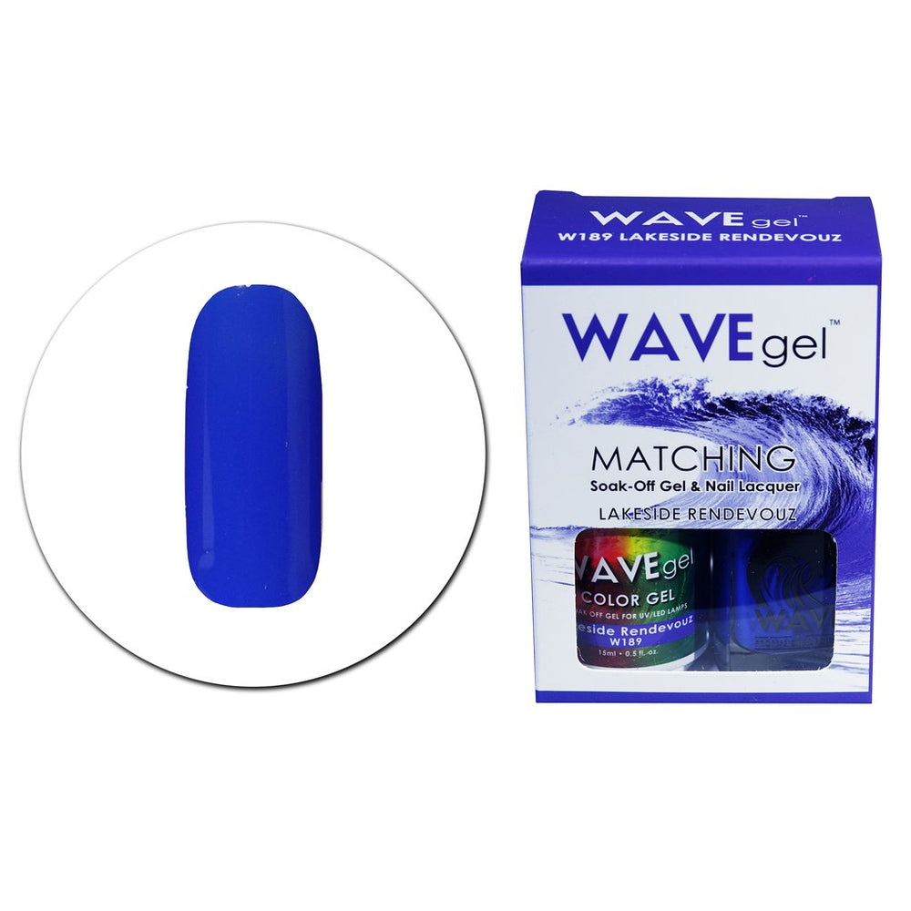Wave Gel Matching Soak Off Gel Polish LAKESIDE RENDEVOUS W189 (W189)