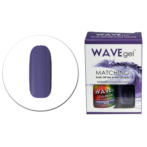 Wave Gel Matching Soak Off Gel Polish NETHERLANDS NIGHTS W190 (W190)