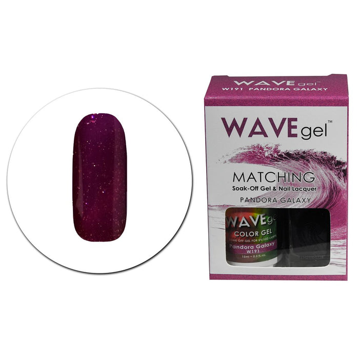 Wave Gel Matching Soak Off Gel Polish PANDORA GALAXY W191 (W191)
