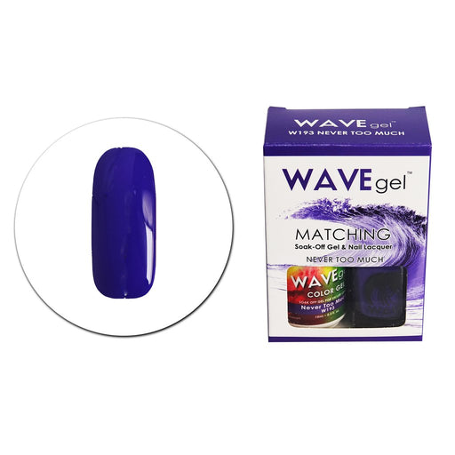 Wave Gel Matching Soak Off Gel Polish Never Too Much W193 (W193)