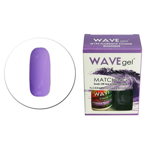 Wave Gel Matching Soak Off Gel Polish Florence Flower Boutique W195 (W195)