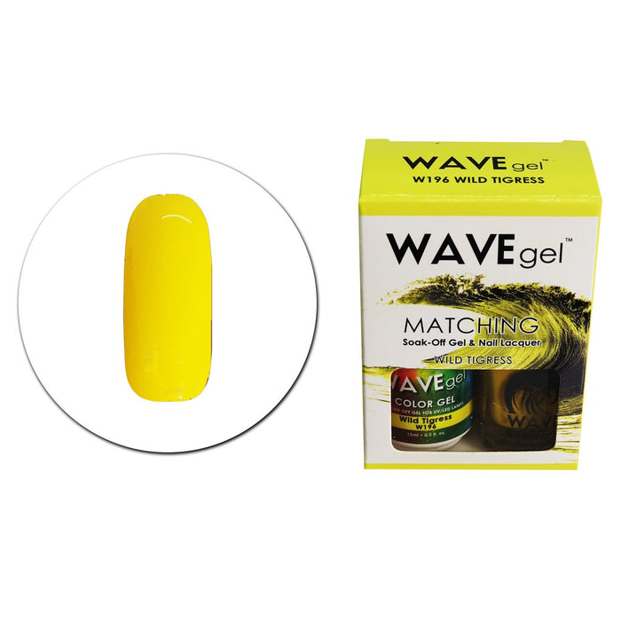 Wave Gel Matching Soak Off Gel Polish Wild Tigress W196 (W196)