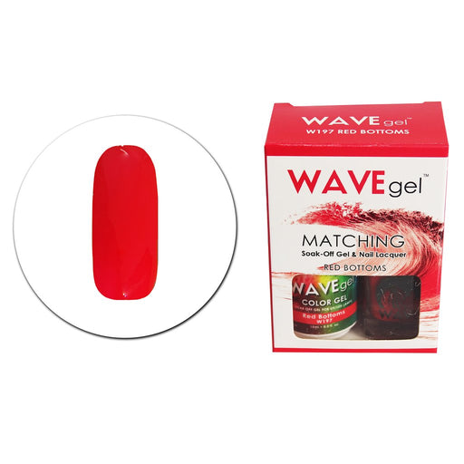 Wave Gel Matching Soak Off Gel Polish Red Bottoms W197 (W197)