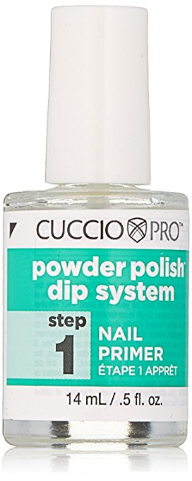 Cuccio Pro Powder Polish Dip System, Step 1 Nail Primer, 0.5 Ounce