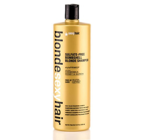 BLONDE SEXY HAIR SULFATE-FREE BOMBSHELL BLONDE SHAMPOO - 33.8 OZ