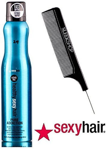 HEALTHY SEXY HAIR PURE ADDICTION ALCOHOL FREE HAIRSPRAY, FAST DRY (W/ COMB) - 9 OZ / 305 ML