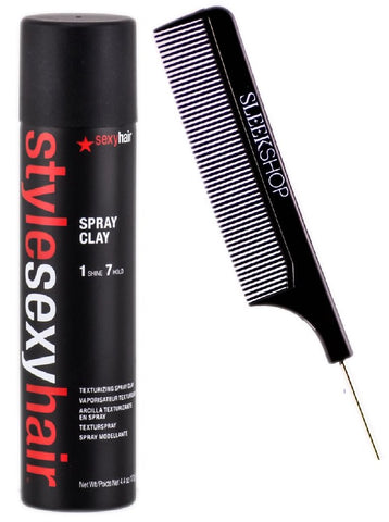 STYLE SEXY HAIR SPRAY CLAY TEXTURIZING SPRAY CLAY, TEXTURE, 1 SHINE, 7 HOLD - 4.4 OZ / 155 ML