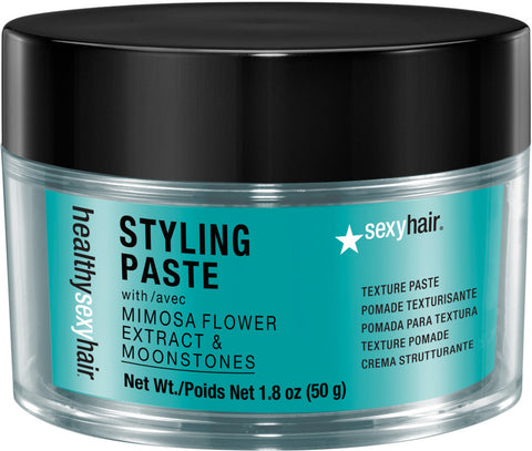 HEALTHY SEXY HAIR STYLING PASTE MIMOSA FLOWER & MOONSTONES TEXTURE POMADE (PREVIOUSLY SOY PASTE) - 1.8 OZ