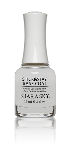 KIARA SKY NAIL LACQUER BASE COAT  STICK & STAY 0.5oz