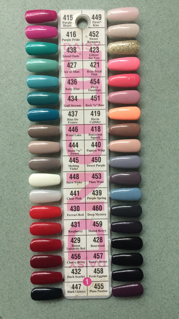 DND Daisy Gel Polish Color Sample Chart Palette Display NEW No.1 ...