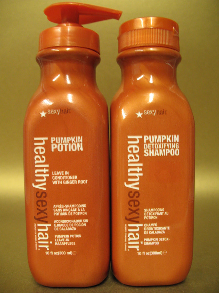 Healthy Sexy Hair Pumpkin Shampoo and Potion Conditioner 10oz 300ml