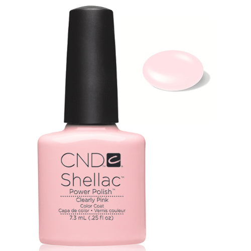 CND Shellac Power Polish CLEARLY PINK #40523 .25 oz