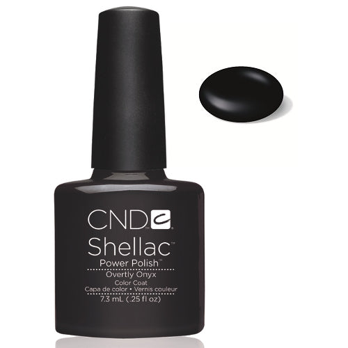 CND Shellac Power Polish OVERTLY ONYX #40549 .25 oz