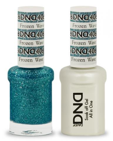 DND Gel & Lacquer 406  Frozen Wave