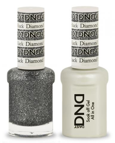 DND Gel & Lacquer 407 Black Diamond Star