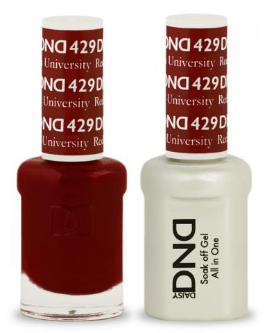 DND Gel & Lacquer 429  Boston University Red