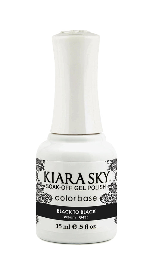 KIARA SKY GEL POLISH - G435 BLACK TO BLACK