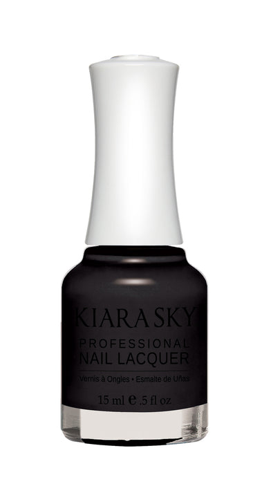 KIARA SKY NAIL POLISH LACQUER - BLACK TO BLACK N435 0.5oz