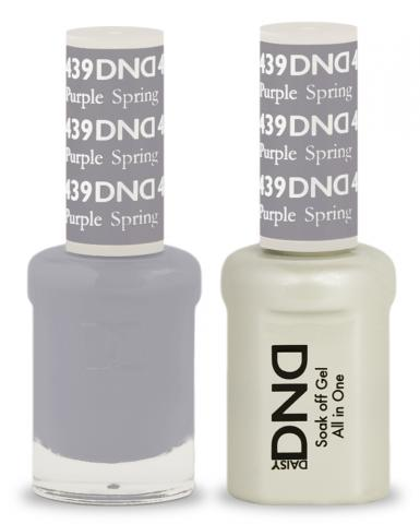 DND Gel & Lacquer 439  Purple Spring