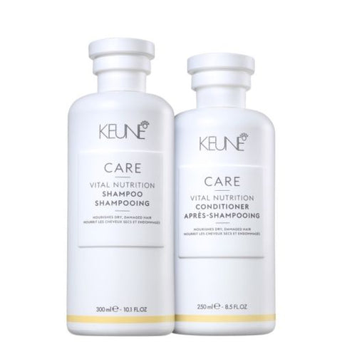 KEUNE CARE LINE VITAL NUTRITION SHAMPOO & CONDITIONER for DRY DAMAGED HAIR