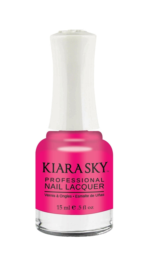 KIARA SKY NAIL POLISH LACQUER  - DON'T PINK ABOUT IT  N446 0.5oz