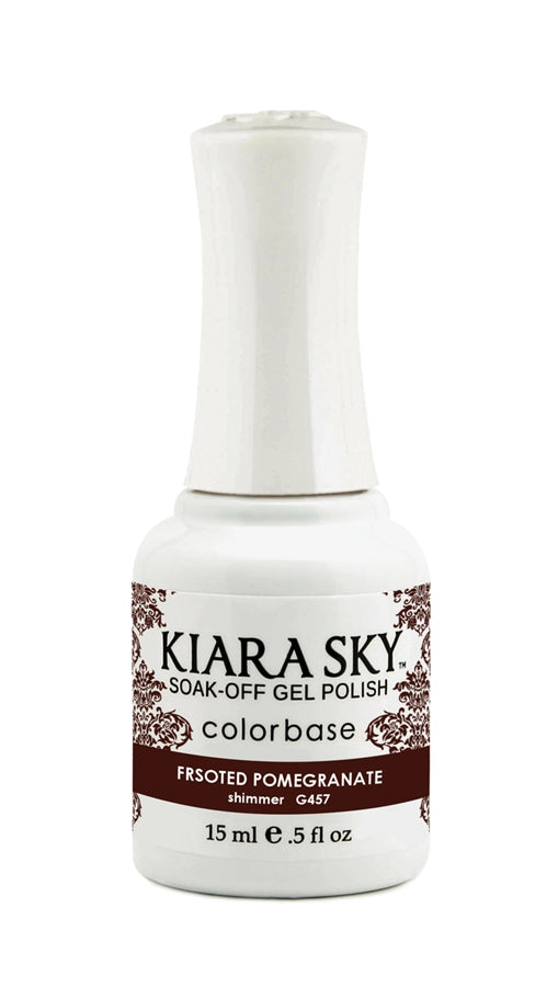 KIARA SKY GEL POLISH - G457 FROSTED POMEGRANATE