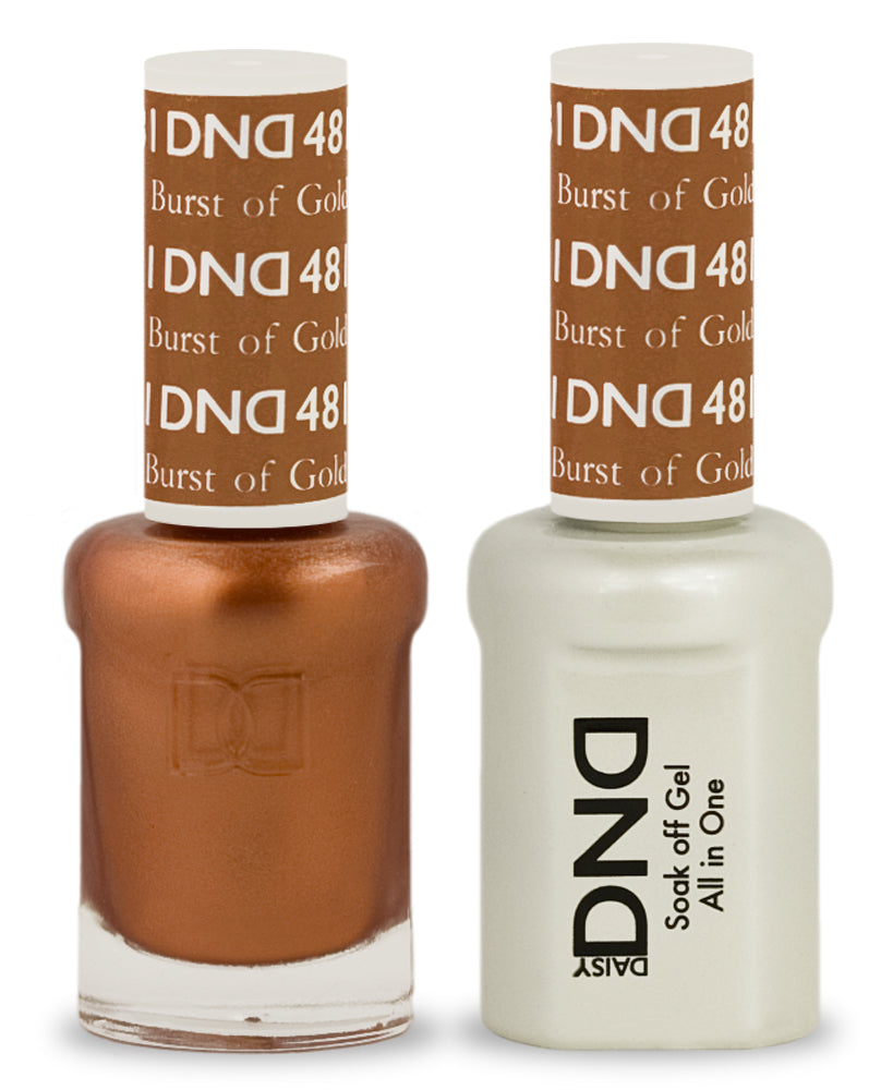 DND Gel & Lacquer 481  Burst Of Gold
